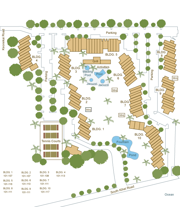Kamaole Sands sitemap