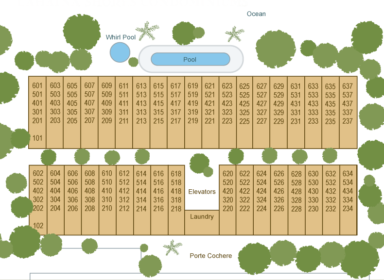 lahaina shores - floor plans